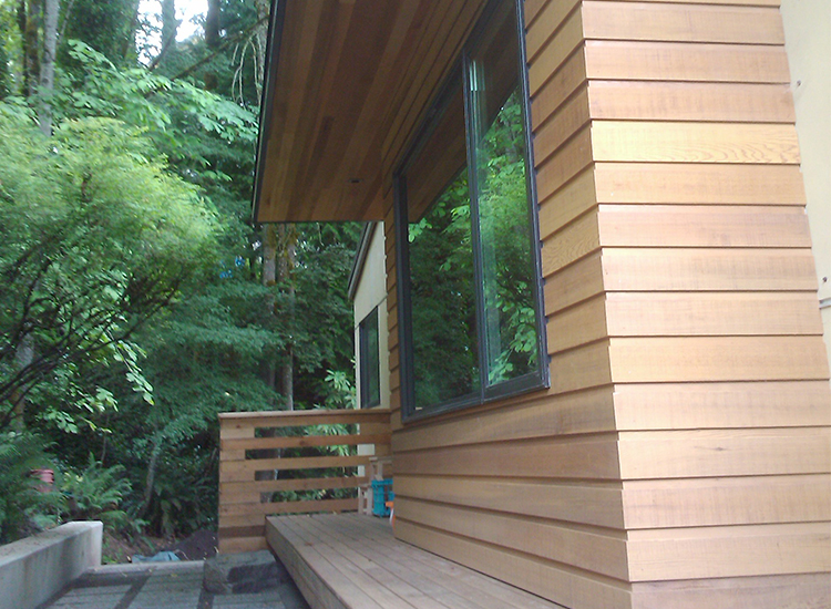 deck remodel, wood siding, modern home, Portland, Kaya Construction, Kaya General Contractors, Portland Remodeler