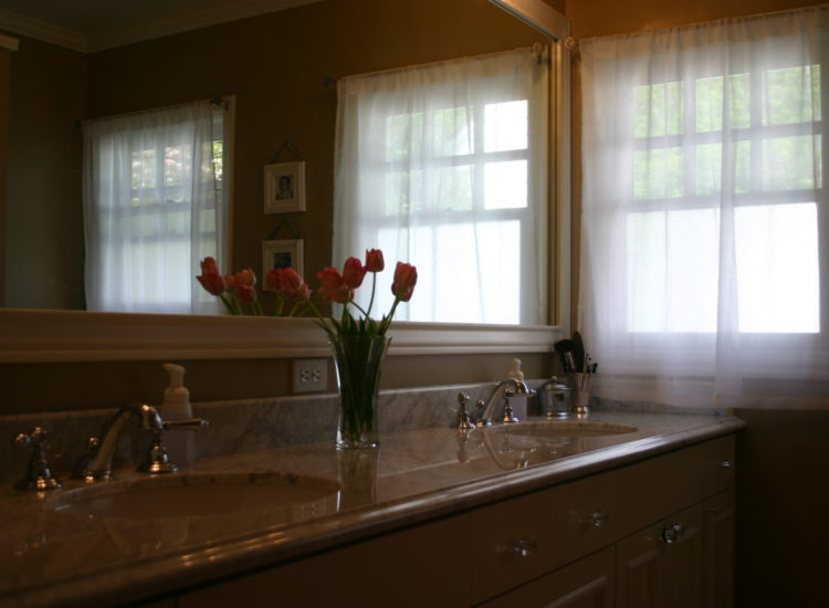 Bathroom remodel, home renovation, sink, vanity, faucet, double sink, Portland, Kaya Construction, Kaya General Contractors, Portland Remodeler