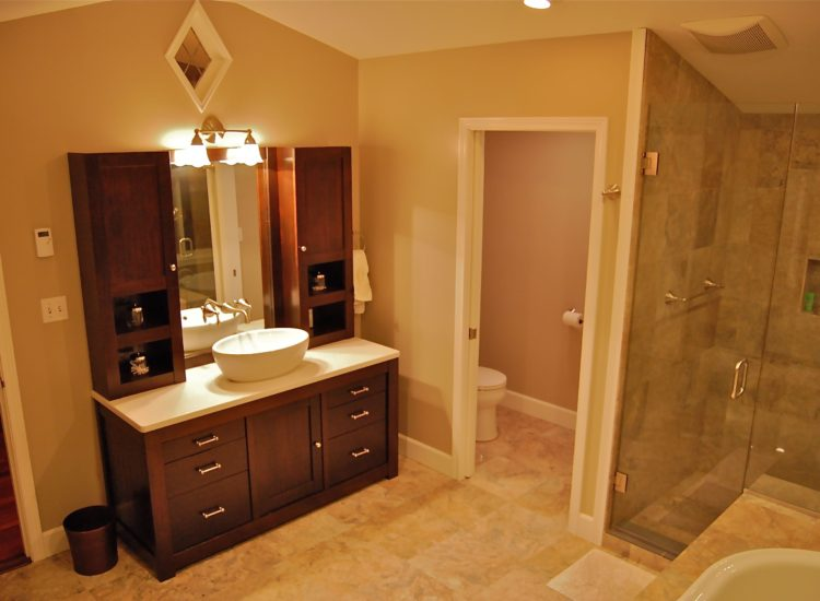 Remodel, addition, bathroom, sink, shower, vanity, home renovation, Portland, Kaya Construction, Kaya General Contractors, Portland Remodeler