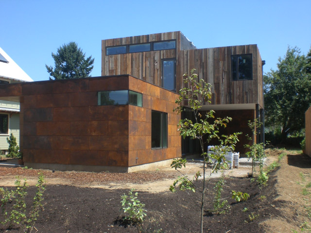 Corten Siding, Portland Contractors, General Contractor, Design and Build, Green Building, Reclaimed Wood Siding